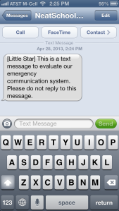 SMS message on iphone